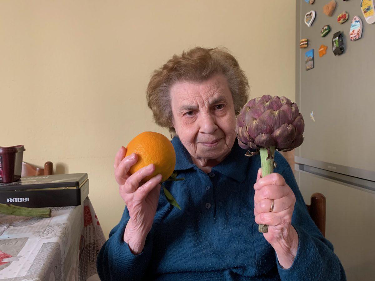 Un'arancia, un carciofo e Maria